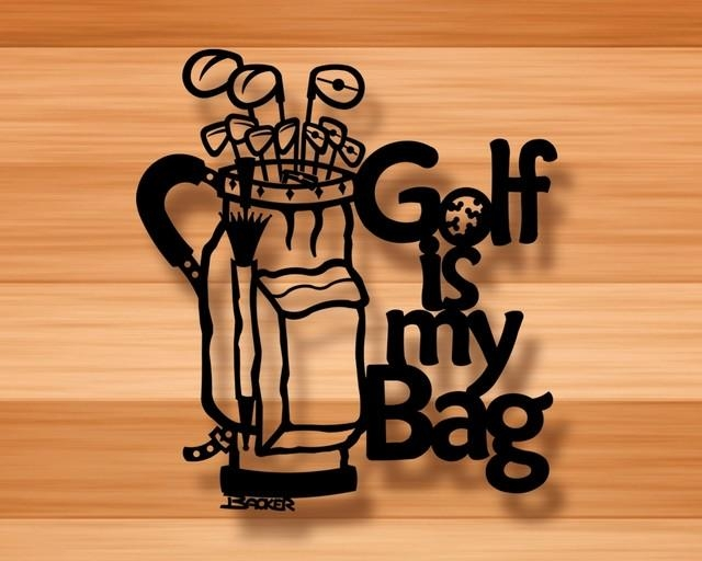 Golf Is My Bag – Wall Decor – 3D Metal Wall Art – Contemporary For 3D Metal Wall Art (Image 10 of 20)