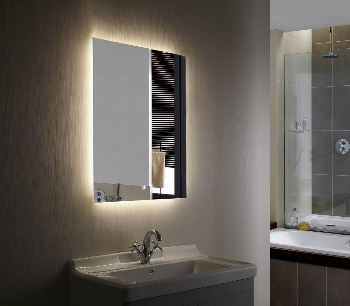 Gorgeous Backlit Bathroom Mirror — Doherty House Regarding Led Lit Bathroom Mirrors (Image 19 of 20)