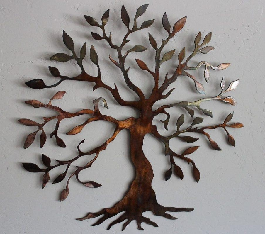 Gorgeous Extra Large Metal Tree Wall Art Deco Metal Tree Wall Inside Oak Tree Large Metal Wall Art (Image 6 of 20)