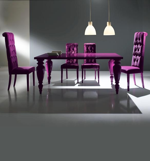 Gorgeous Luxury Purple Dining Room Chairs | Dining Chairs Design Inside Most Current Dining Tables And Purple Chairs (View 5 of 20)