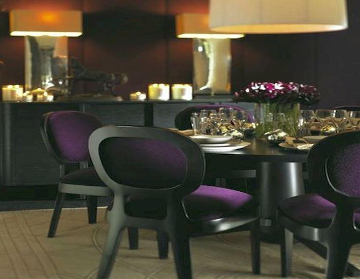 Granite Top Dining Table Set Purple Dining Room Chairs Lighting Throughout Current Dining Tables And Purple Chairs (Image 12 of 20)