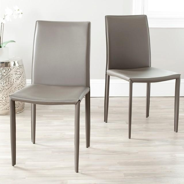 Gray Bonded Leather Dining Chair | Dining Chairs Design Ideas With Regard To Grey Leather Dining Chairs (View 6 of 20)
