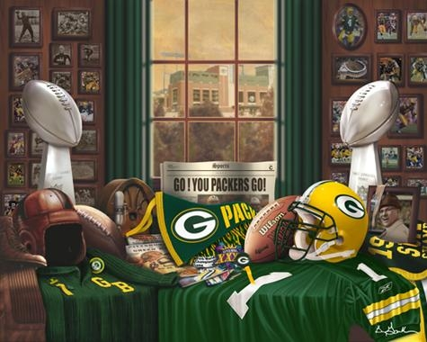 Green Bay Packer Traditions Art Print Painting Poster Within Green Bay Packers Wall Art (Image 6 of 20)