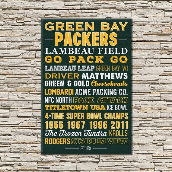 Green Bay Packers Art Canvas Or Poster Pertaining To Green Bay Packers Wall Art (View 6 of 20)