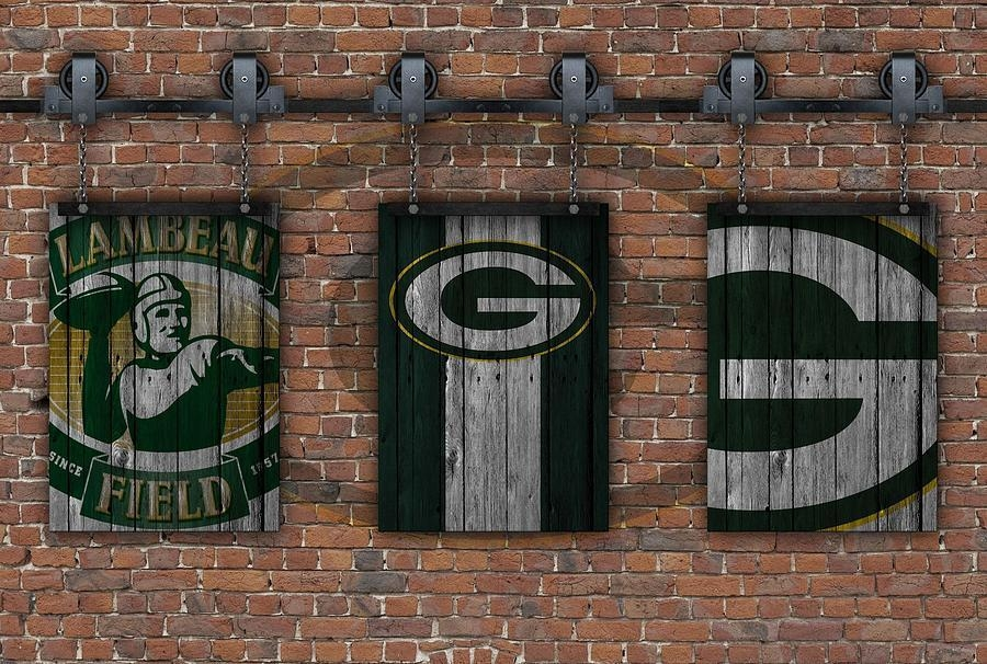 Green Bay Packers Brick Wall Photographjoe Hamilton Pertaining To Green Bay Packers Wall Art (Image 8 of 20)