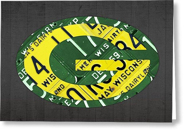 Green Bay Packers Football Team Retro Logo Wisconsin License Plate Throughout Green Bay Packers Wall Art (Image 9 of 20)