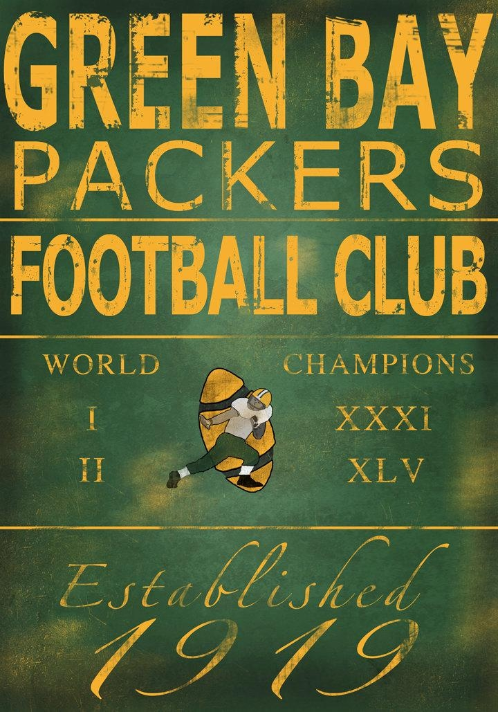 Green Bay Packers Lambeau Field Wood Print Man Cave Decor Gift With Regard To Green Bay Packers Wall Art (Image 10 of 20)