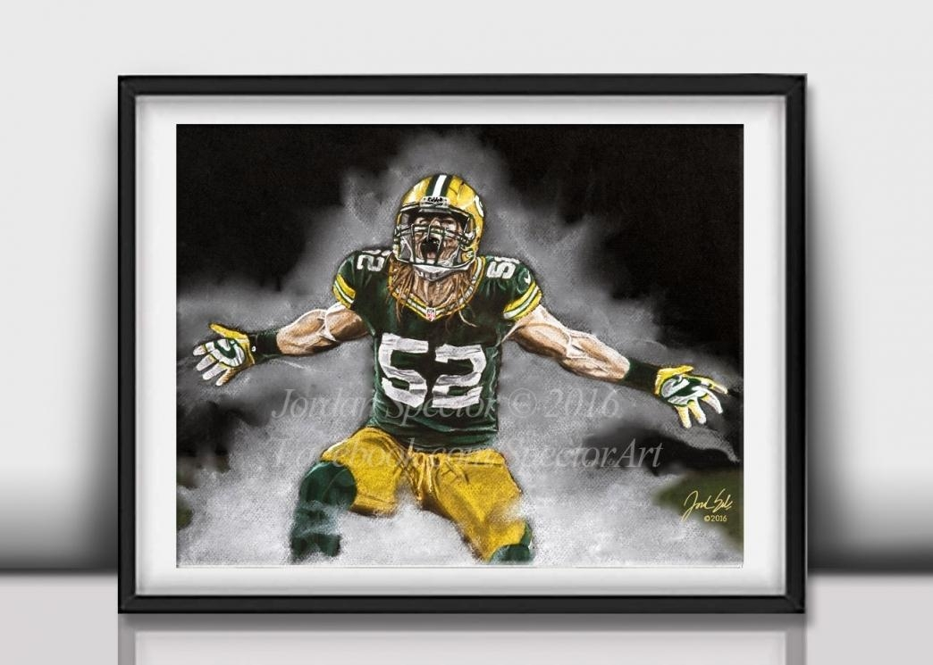 Green Bay Packers Wall Art Takuice In Green Bay Packers Bedroom Intended For Green Bay Packers Wall Art (View 8 of 20)