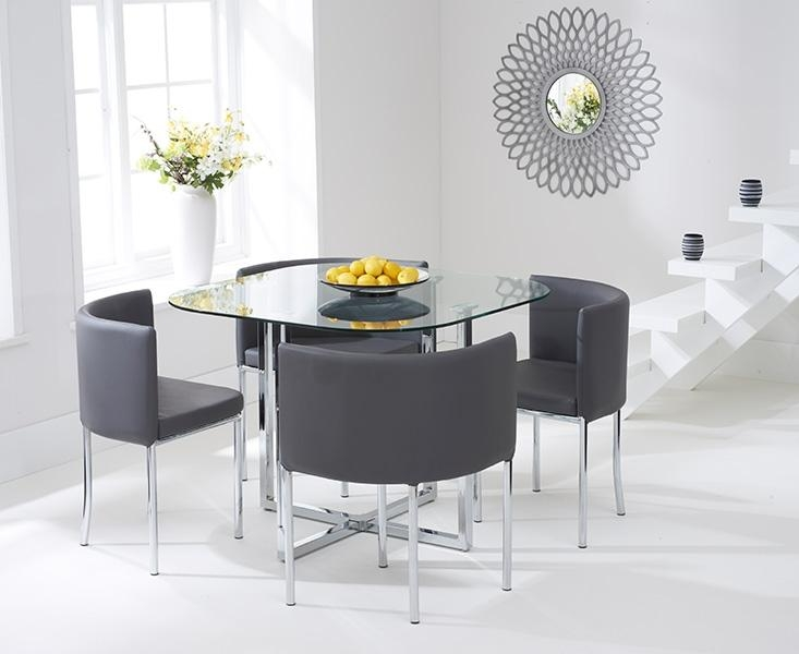 Grey Glass Dining Table – Table Designs Regarding 2017 Grey Glass Dining Tables (View 10 of 20)