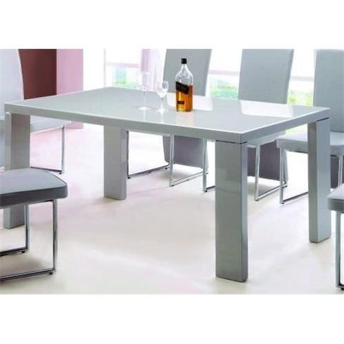 Grey Gloss Dining Table High Gloss Dining Table With 6 Grey Koln For Grey Gloss Dining Tables (Image 13 of 20)