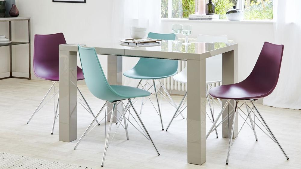 Grey Gloss Extending Dining Table | Seats Up To 10 For Recent High Gloss Extendable Dining Tables (Image 11 of 20)