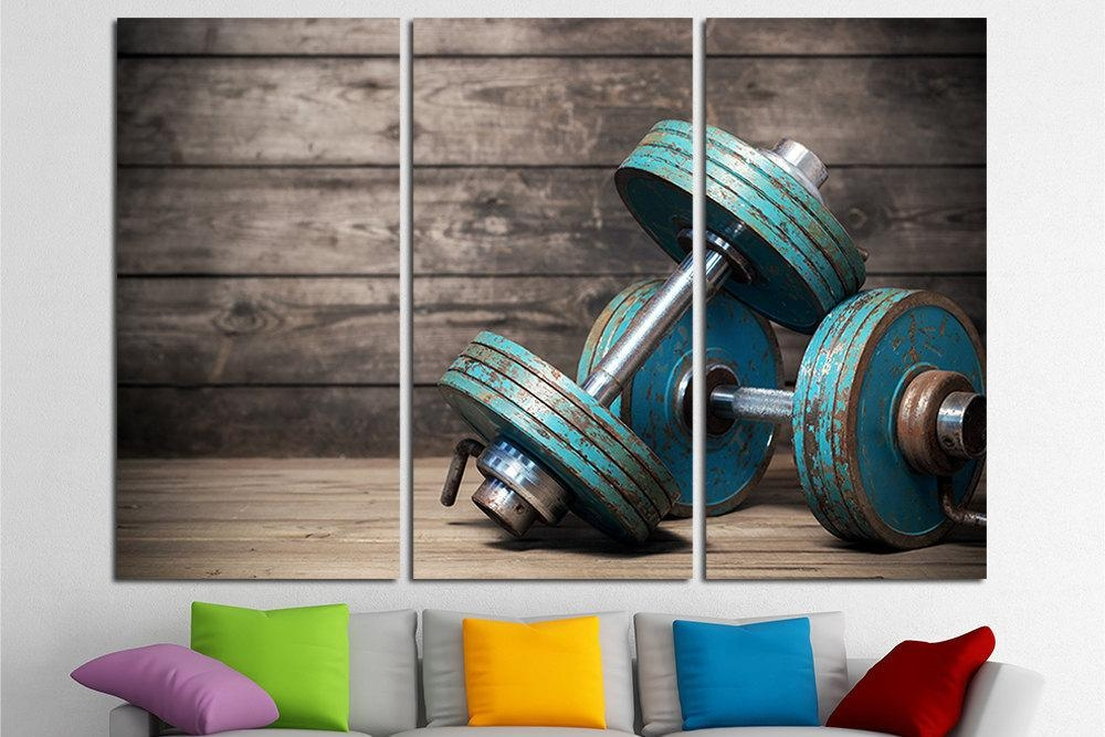 Gym Wall Art Gym Decor Gym Wall Decor Gym Art Home Gym Decor Regarding Wall Art For Home Gym (Image 13 of 20)
