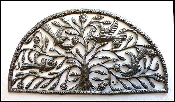Haitian Metal Art Bird Wall Art – Steel Drum Metal Art Wall Hangings Inside Metal Art For Wall Hangings (View 6 of 20)