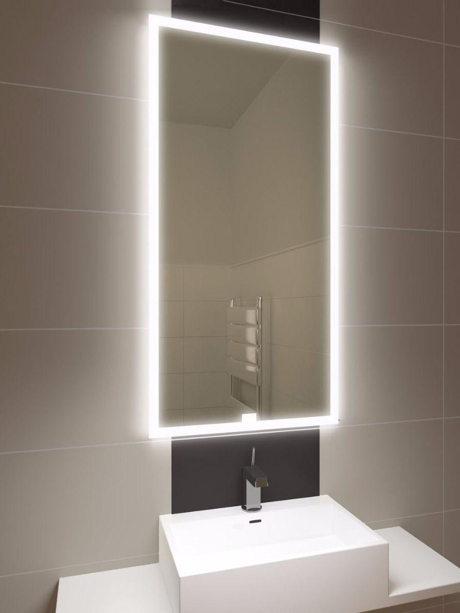 Halo Tall Led Light Bathroom Mirror 1419V | Illuminated Bathroom Throughout Led Lit Bathroom Mirrors (Image 20 of 20)