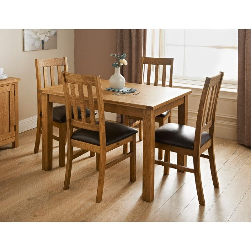 Hampshire Oak Dining Set 7Pc | Dining Furniture – B&m In Most Up To Date Oak Dining Suite (Image 12 of 20)