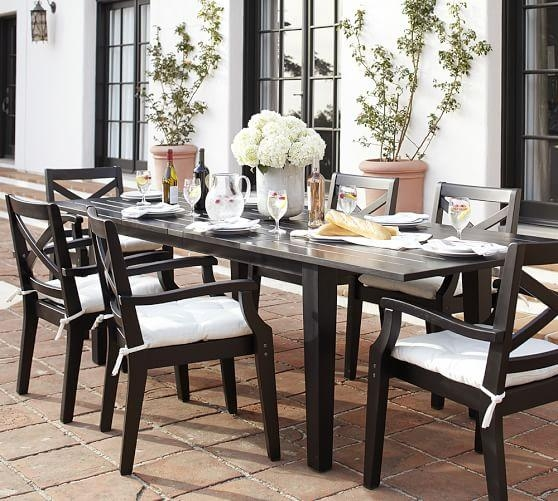 Hampstead Painted Rectangular Extending Dining Table Chair Set Throughout Current Black Extendable Dining Tables And Chairs (Image 12 of 20)