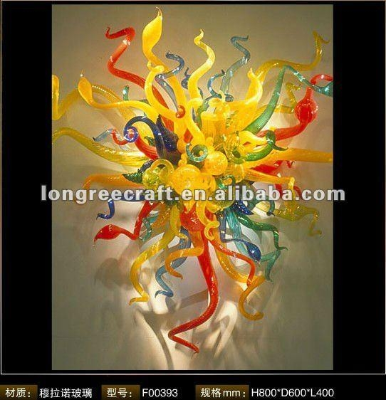 Hand Blown Glass Wall Art, Hand Blown Glass Wall Art Suppliers And With Glass Wall Art For Sale (View 7 of 20)
