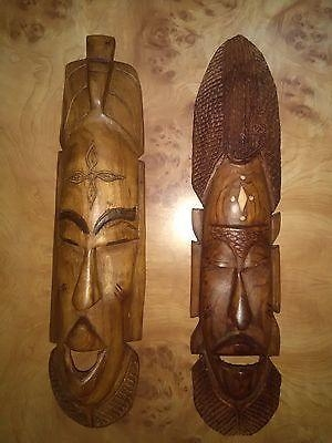Hand Carved Wood Mask Tribal Wall Art | What's It Worth With Wooden Tribal Mask Wall Art (View 3 of 20)