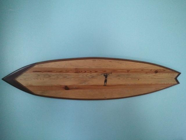 Hand Crafted Large Surfboard Wall Art W Added Designgood Surf Intended For Surf Board Wall Art (View 4 of 20)