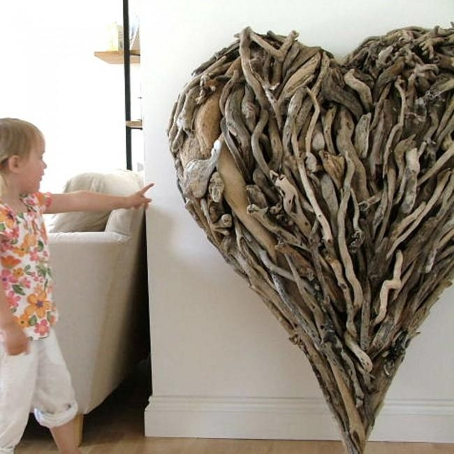 Hand Made Driftwood Heart 90Cm | Doris In Brixham, Devon Throughout Driftwood Heart Wall Art (Image 10 of 20)