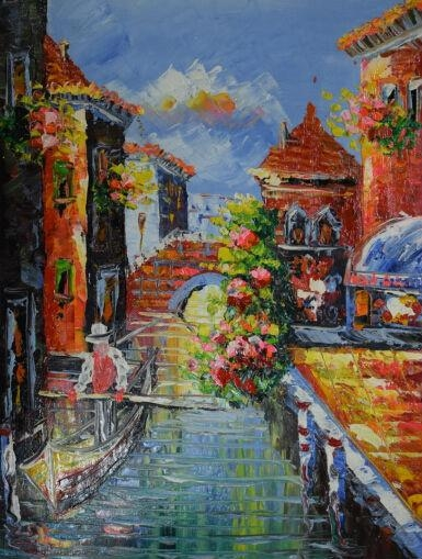 Hand Painted Canvas Oil Painting Italian Landscapes Scenery Of Intended For Italian Scenery Wall Art (Image 13 of 20)