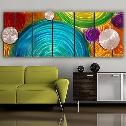 Hand Painted Wall Art | Statements2000 – Jon Allen Metal Art, Page 6 Intended For Colorful Abstract Wall Art (Image 15 of 20)