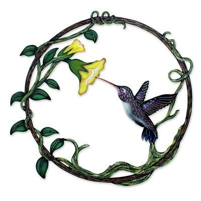 Handcrafted Bird Metal Art For The Wall – Paradise Hummingbird Within Hummingbird Metal Wall Art (Image 10 of 20)