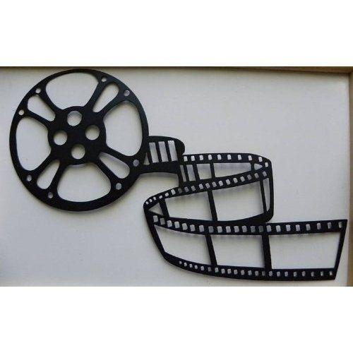 Handmade Home Theater Decor Movie Reel And Film Metal Wall Art Regarding Movie Reel Wall Art (View 18 of 20)