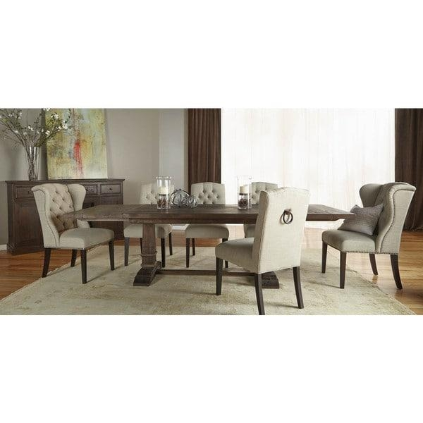 Harlan Rustic Java Double Pedestal Extension Dining Table – Free In Latest Java Dining Tables (Image 13 of 20)