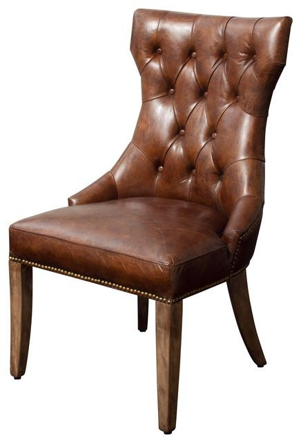 Hartwell Dining Chair – Transitional – Dining Chairs Gdfstudio For Brown Leather Dining Chairs (View 5 of 20)
