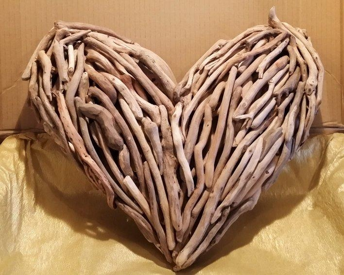 Heart Wall Art – Celtic Coast Creations With Regard To Driftwood Heart Wall Art (Image 14 of 20)