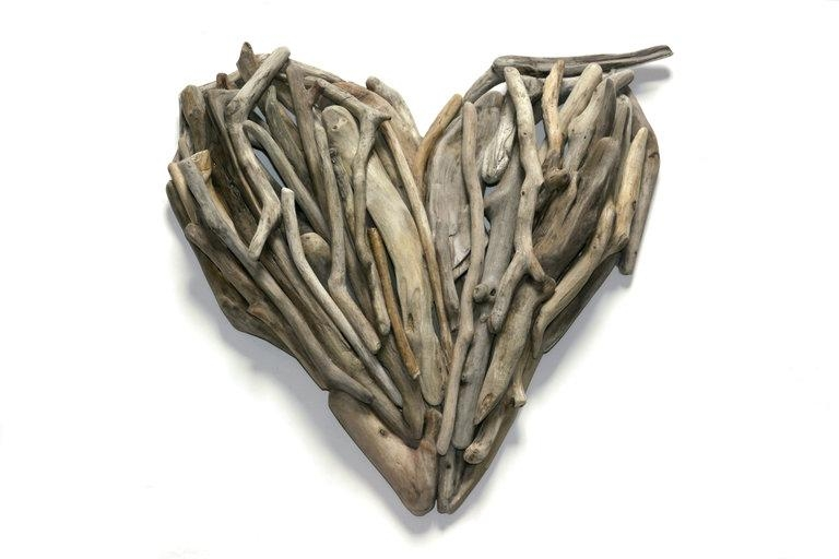Heart Wall Art – Driftwood Art From Celtic Coast Creations With Driftwood Heart Wall Art (Image 15 of 20)