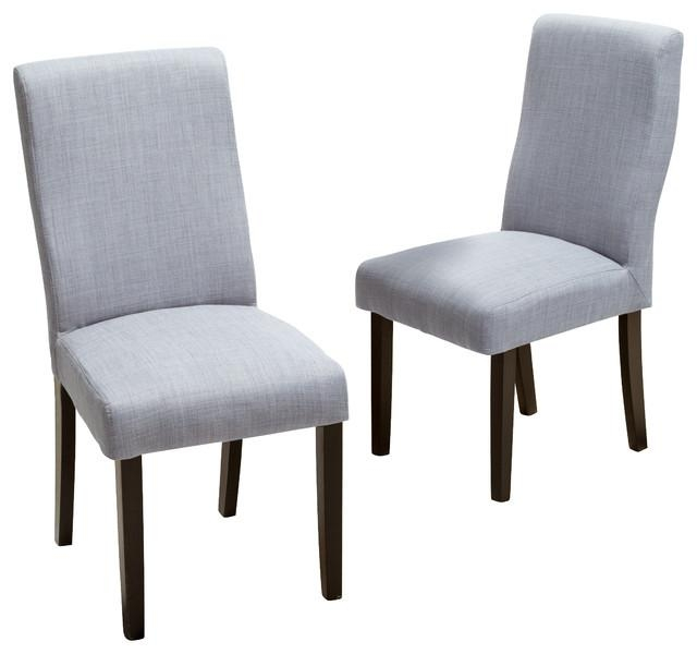 Heath Fabric Dining Chairs, Set Of 2 – Transitional – Dining For Newest Grey Dining Chairs (Image 14 of 20)