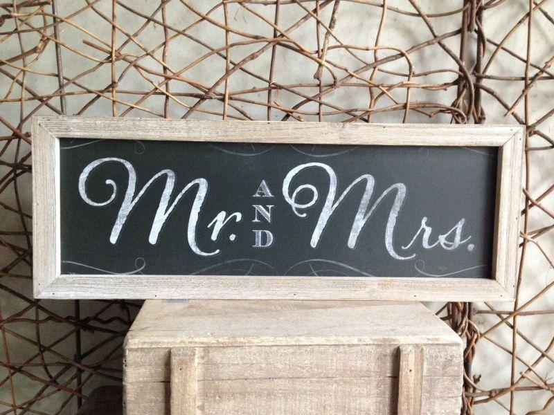 Heaven Sends Mr And Mrs Blackboard Style Framed Wall Art • Cameo In Mr And Mrs Wall Art (Image 8 of 20)