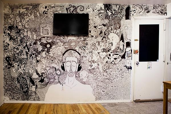 Here's A Living Room Mural Drawn With Sharpies | (The) Absolute With Sharpie Wall Art (Image 10 of 20)