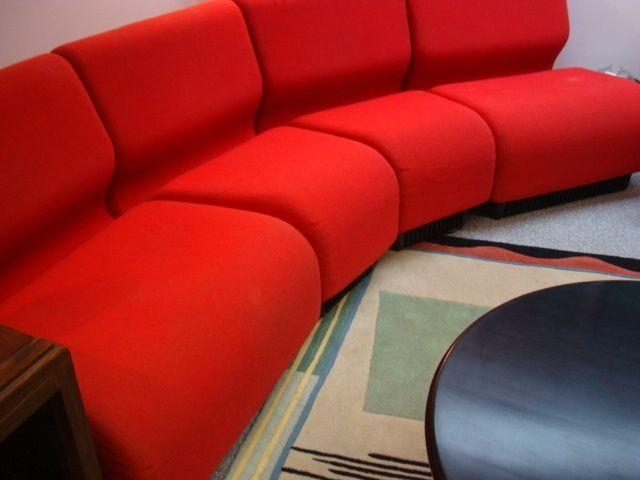 "Herman Miller Red Modular Sofa ""the Chadwick"" Find It On Rubylane Intended For Chadwick Sofas (Image 13 of 20)"
