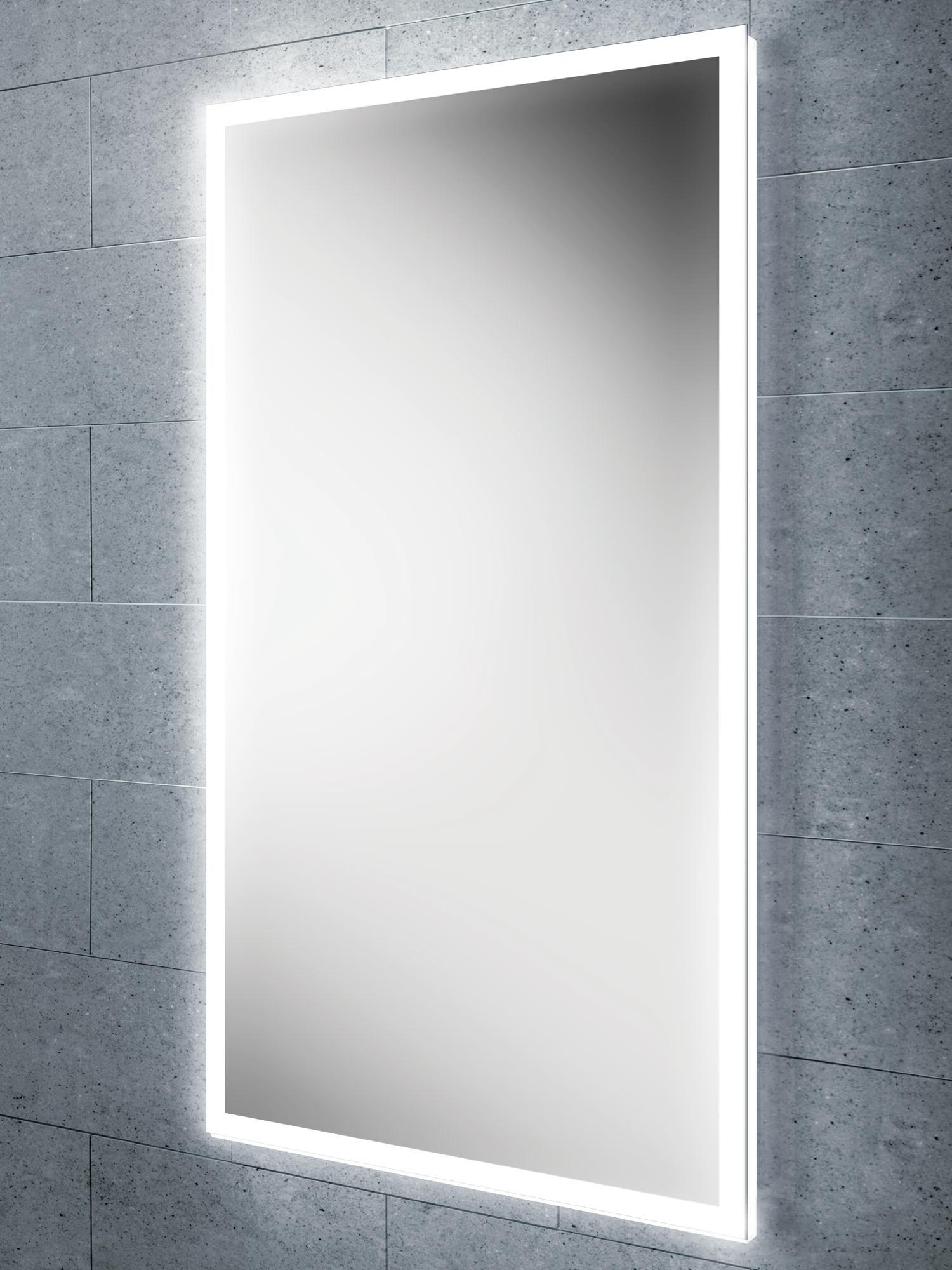 Hib Globe 45 Steam Free Led Illuminated Bathroom Mirror 450X800Mm Inside Led Illuminated Bathroom Mirrors (View 4 of 20)