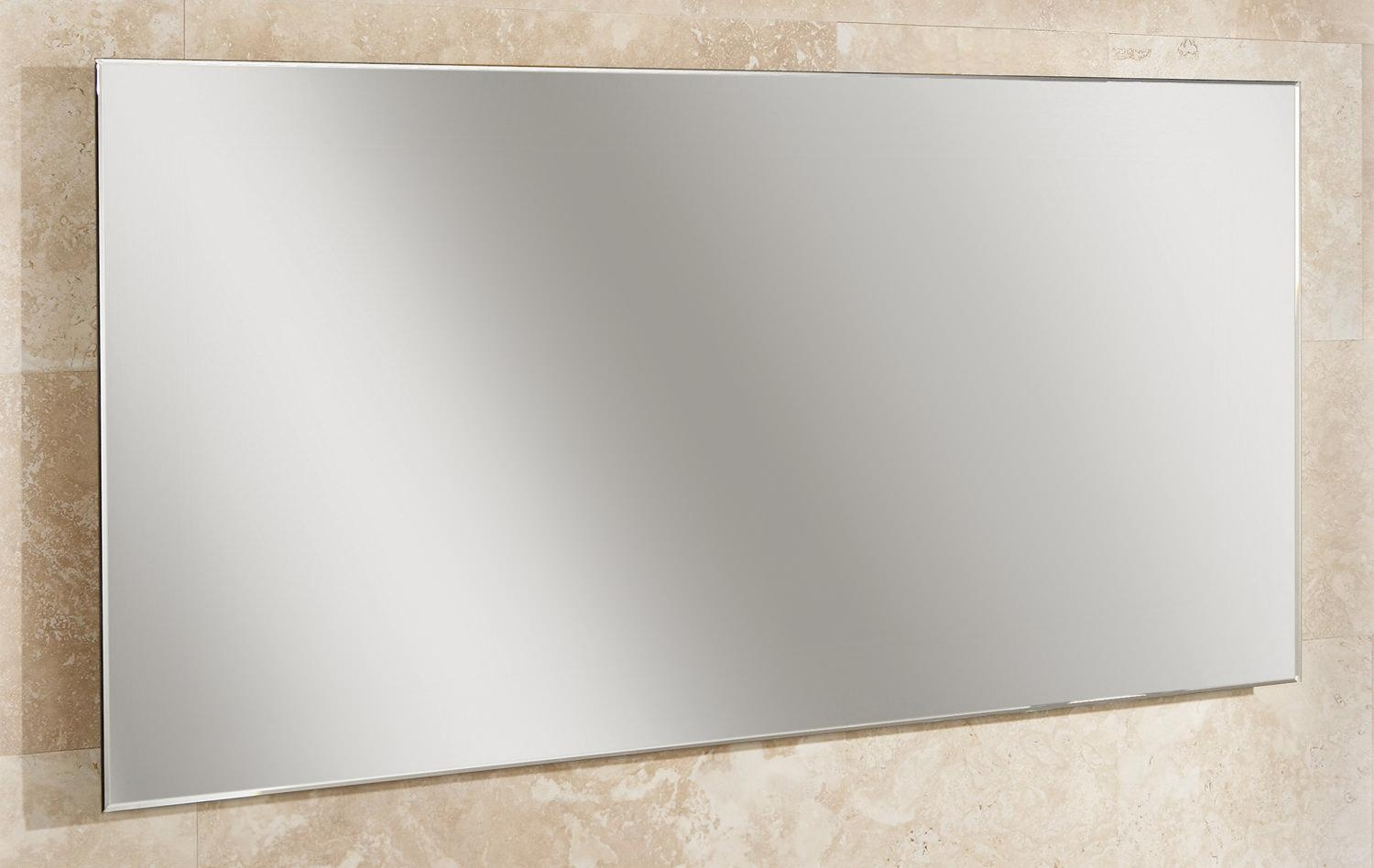 Hib Willow Landscape Bevelled Edge Mirror 1200 X 600Mm | 77305000 Within Bevelled Bathroom Mirrors (Image 14 of 20)