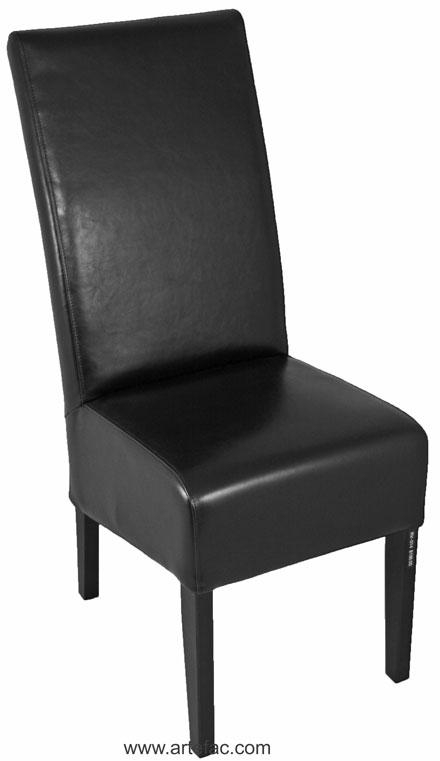 "High Back Black Leather Dining Chair"" With High Back Leather Dining Chairs (Image 10 of 20)"