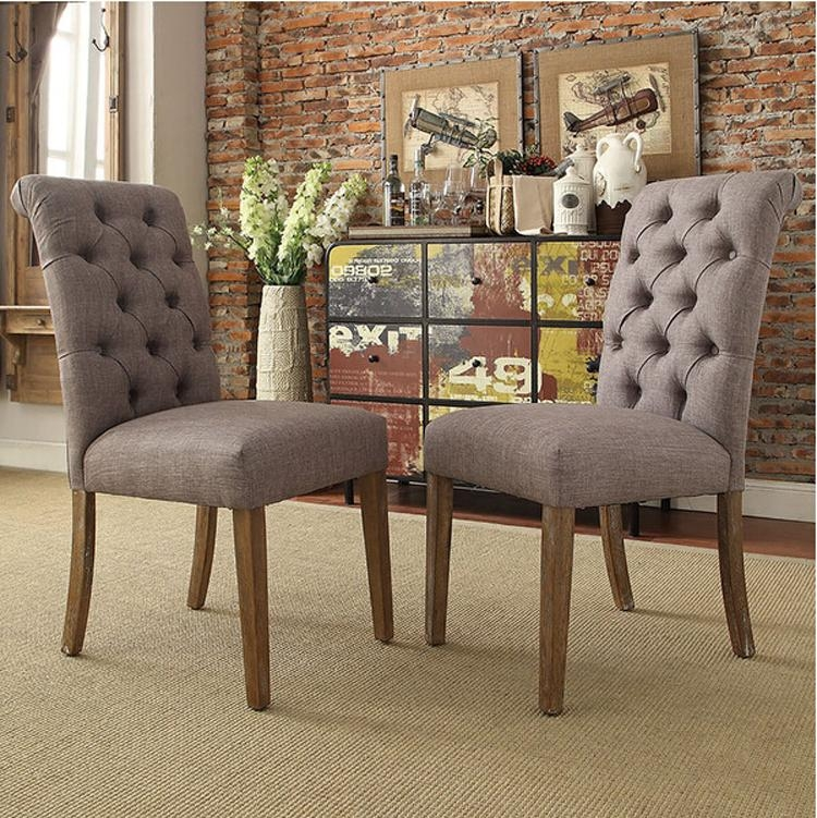 High Back Dining Room Chairs Tufted – Buy Button Tufted Chair Within Recent Button Back Dining Chairs (Image 13 of 20)