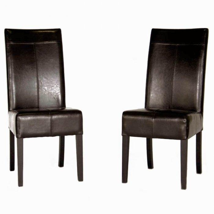 High Back Full Leather Dining Chair – $ (Image 11 of 20)