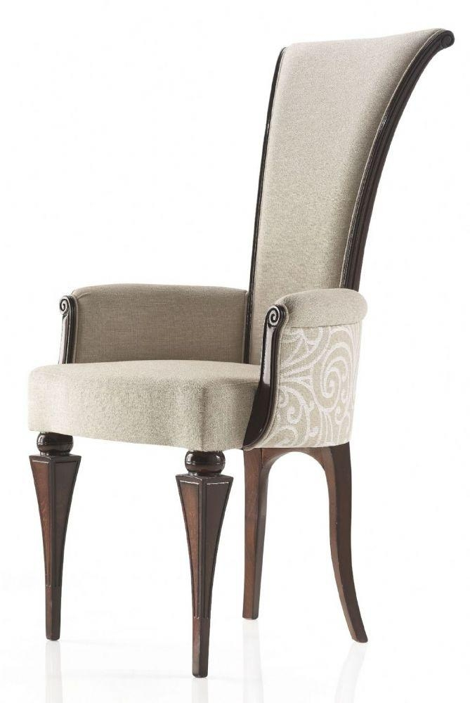 High Back Low Arm Italian Contemporary Style Carver Dining Chair In Most Up To Date High Back Dining Chairs (Image 12 of 20)
