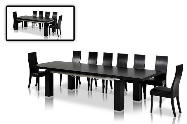 High Gloss Black Extendable Dining Table Contemporary Dining With Recent Black Gloss Extending Dining Tables (View 9 of 20)