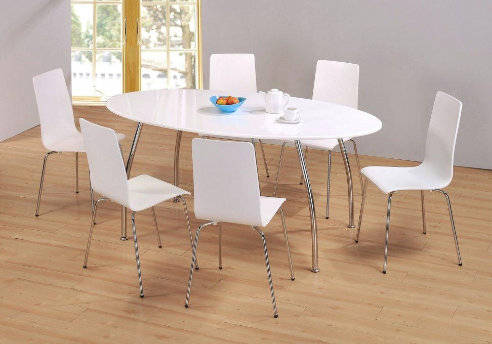 High Gloss Cream Dining Table And Chairs High Gloss Dining Table For Latest White Gloss Dining Tables 140Cm (Image 11 of 20)