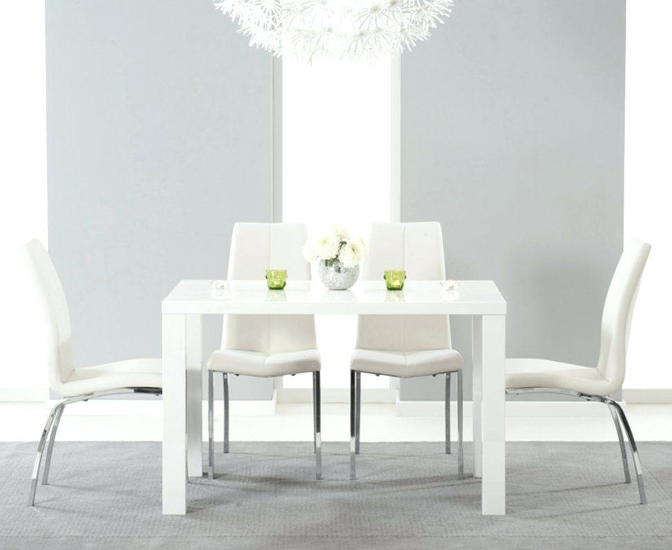 High Gloss Cream Dining Table And Chairs High Gloss Dining Table With Best And Newest White Gloss Dining Tables 140Cm (Image 12 of 20)