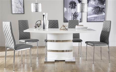 High Gloss Dining Sets | Furniture Choice With Regard To White High Gloss Dining Tables And Chairs (Image 9 of 20)