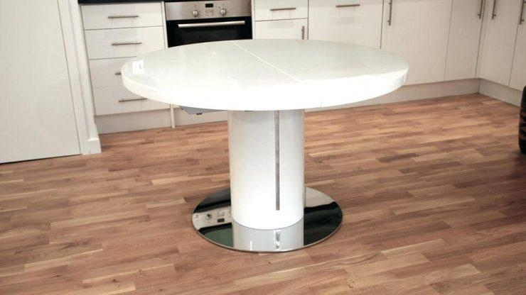High Gloss Dining Table 6 Chairs Large White High Gloss Round Inside Most Up To Date Round High Gloss Dining Tables (View 9 of 20)