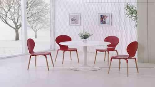 High Gloss Dining Table & Chairs, Gloss Dining Sets – Homegenies For Best And Newest Red Gloss Dining Tables (Image 9 of 20)