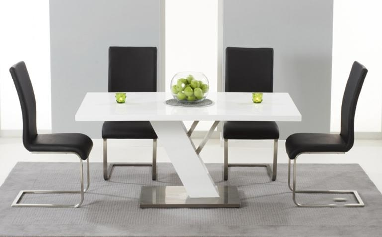 High Gloss Dining Table Sets | Great Furniture Trading Company With Current High Gloss Dining Tables And Chairs (Image 13 of 20)