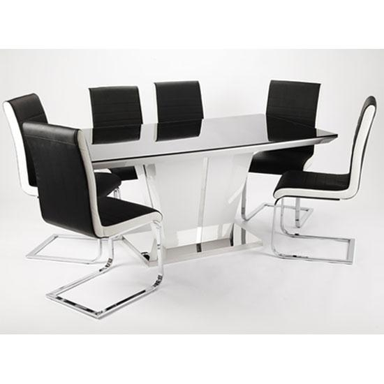 Black Gloss Dining Tables And 6 Chairs